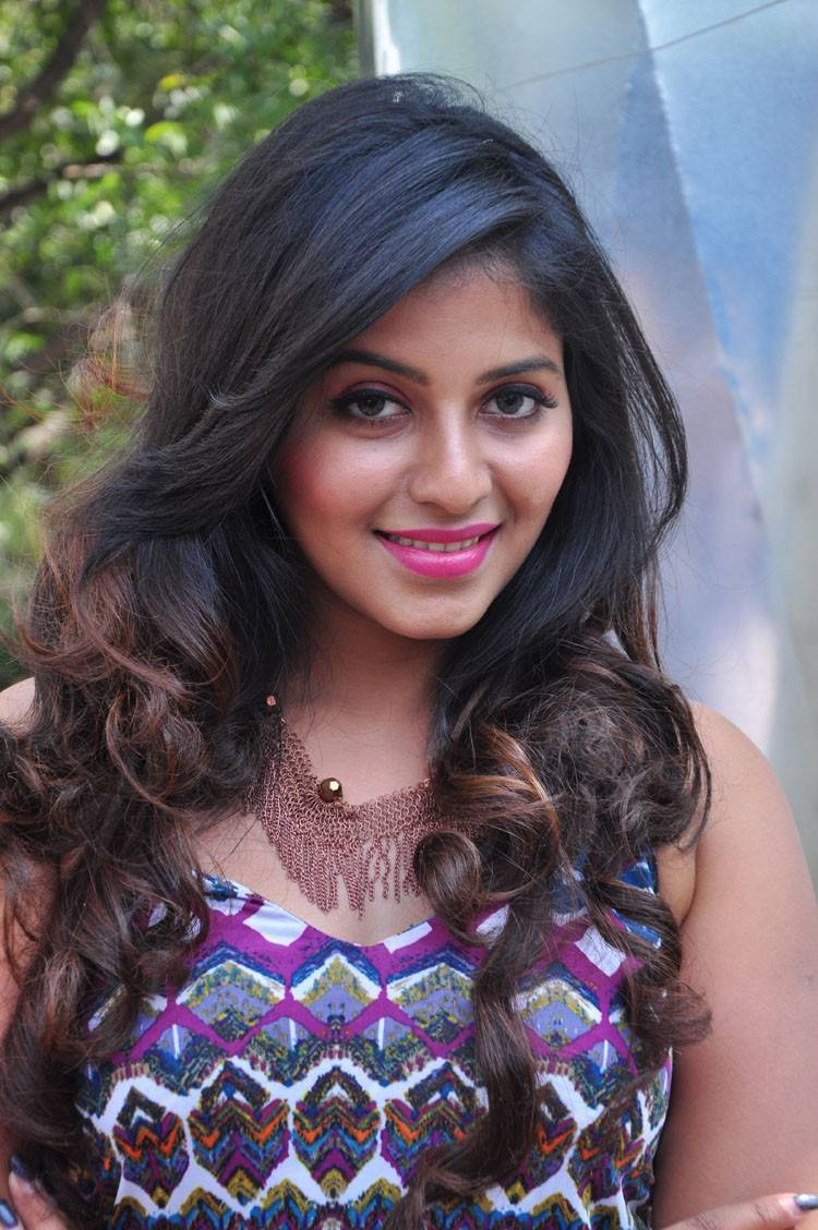 Anjali Latest Hot Stills In Blue Dress