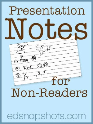 Presentation notes for non-readers   Everyday Snapshots