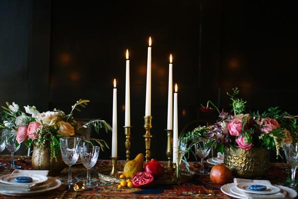 Detalle mesa boda de estilo bohemio