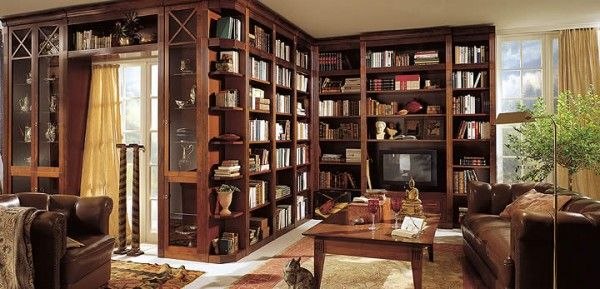 Personal Home Library, Vertical Three Wall Cover - Image: Freshhome.com, Pinterest Community