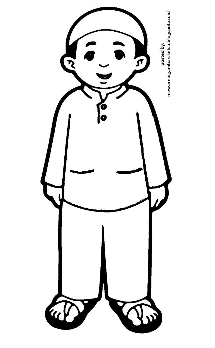 Mewarnai Gambar: Mewarnai Gambar Kartun Anak Sekolah