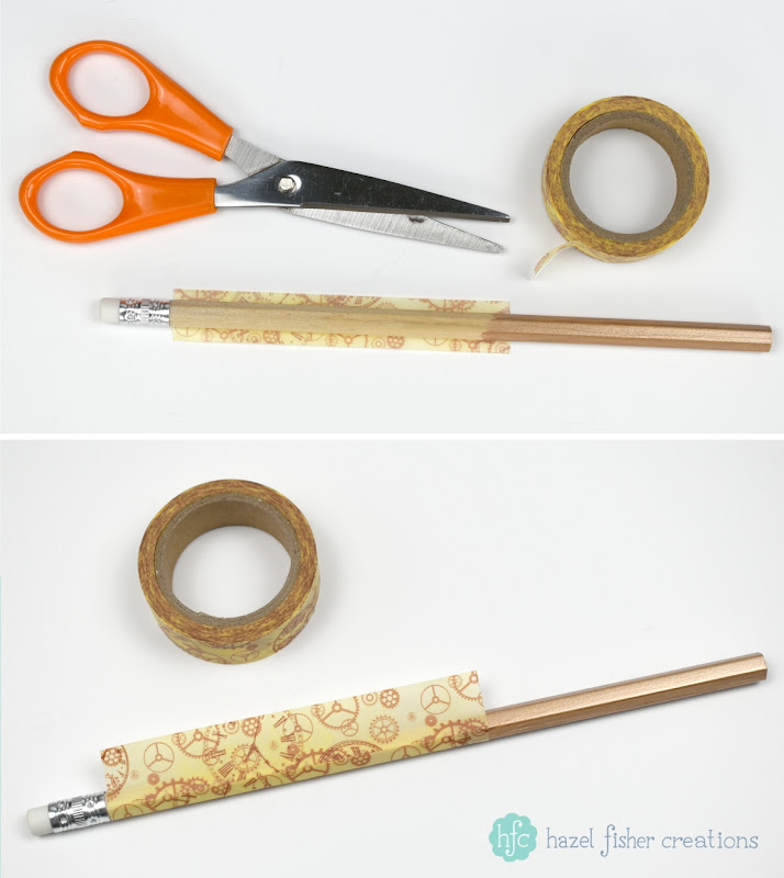 3 Techniques to Decorate Pencils - back to school diy stationery project; washi tape. Hazel Fisher Creations