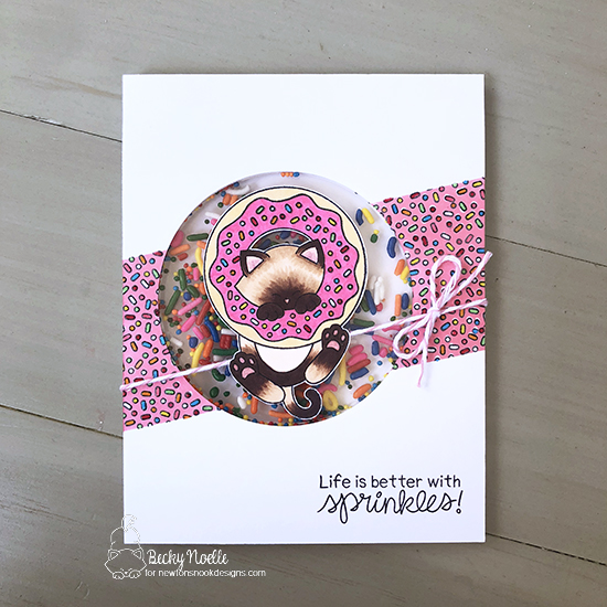 Life is better with sprinkles by Becky features Newton's Donut by Newton's Nook Designs; #newtonsnook