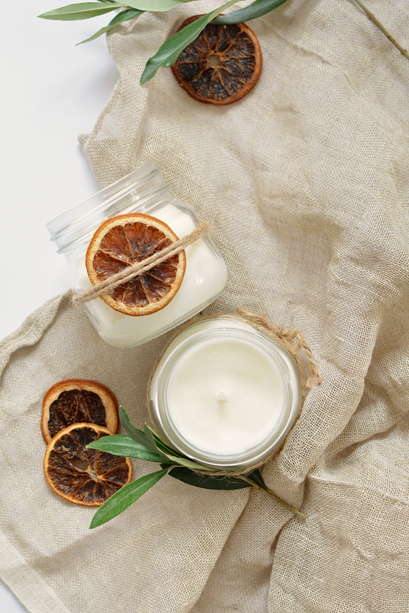 handmade christmas gifts, diy candles