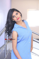 Telugu Actress Mounika UHD Stills in Blue Short Dress at Tik Tak Telugu Movie Audio Launch .COM 0278.JPG