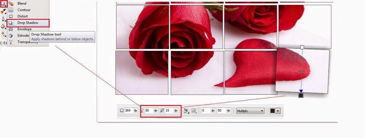 hiệu ứng tạo hình ghép với hình dạng thông thường Học CorelDraw