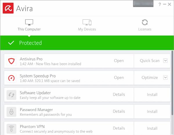 avira antivirus boot time scan