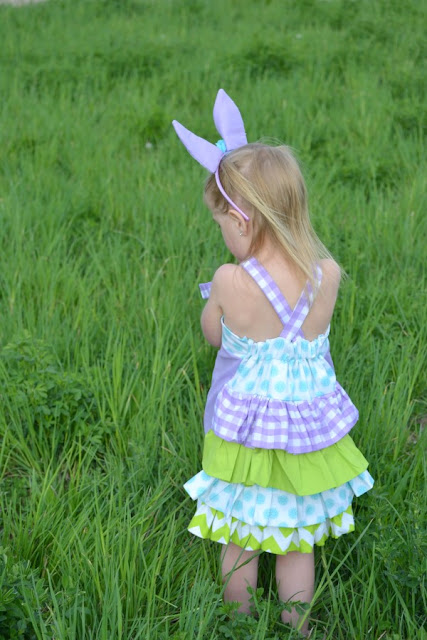 Back of Bustle Little Girls Dress