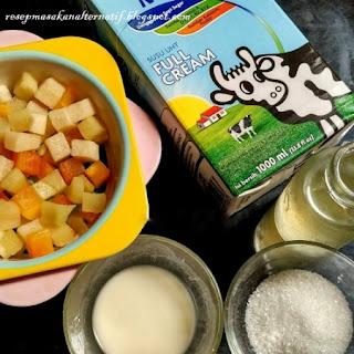 Resep Membuat Puding Coklat Susu Saus Buah