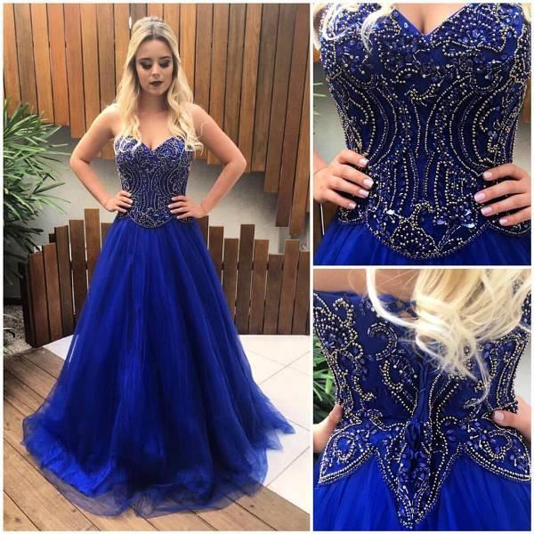 vestido de festa azul gode