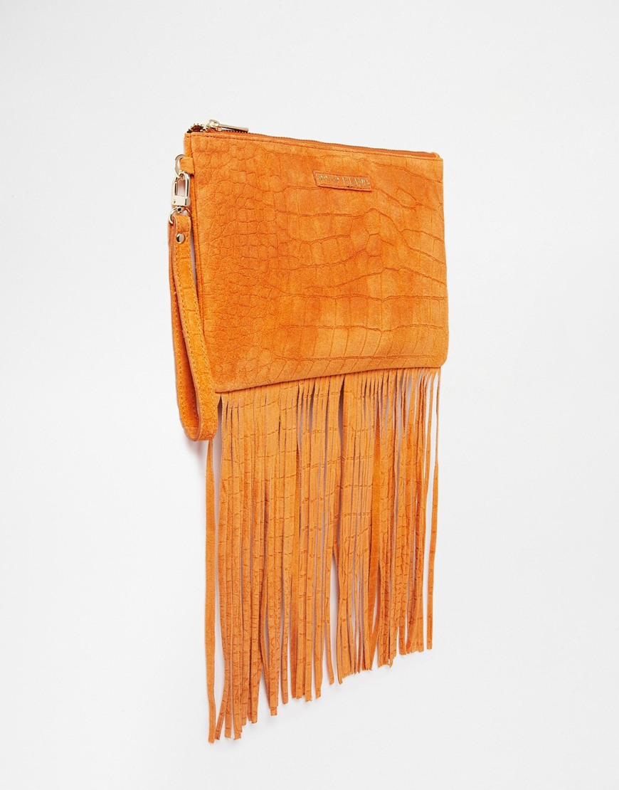 b16ba1ad34 ASOS Faux Fur Roll Top Clutch Bag With Chunky Tassel £35.00