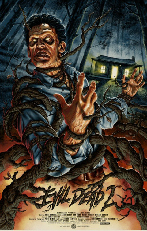 Image result for evil dead 2 poster mondo