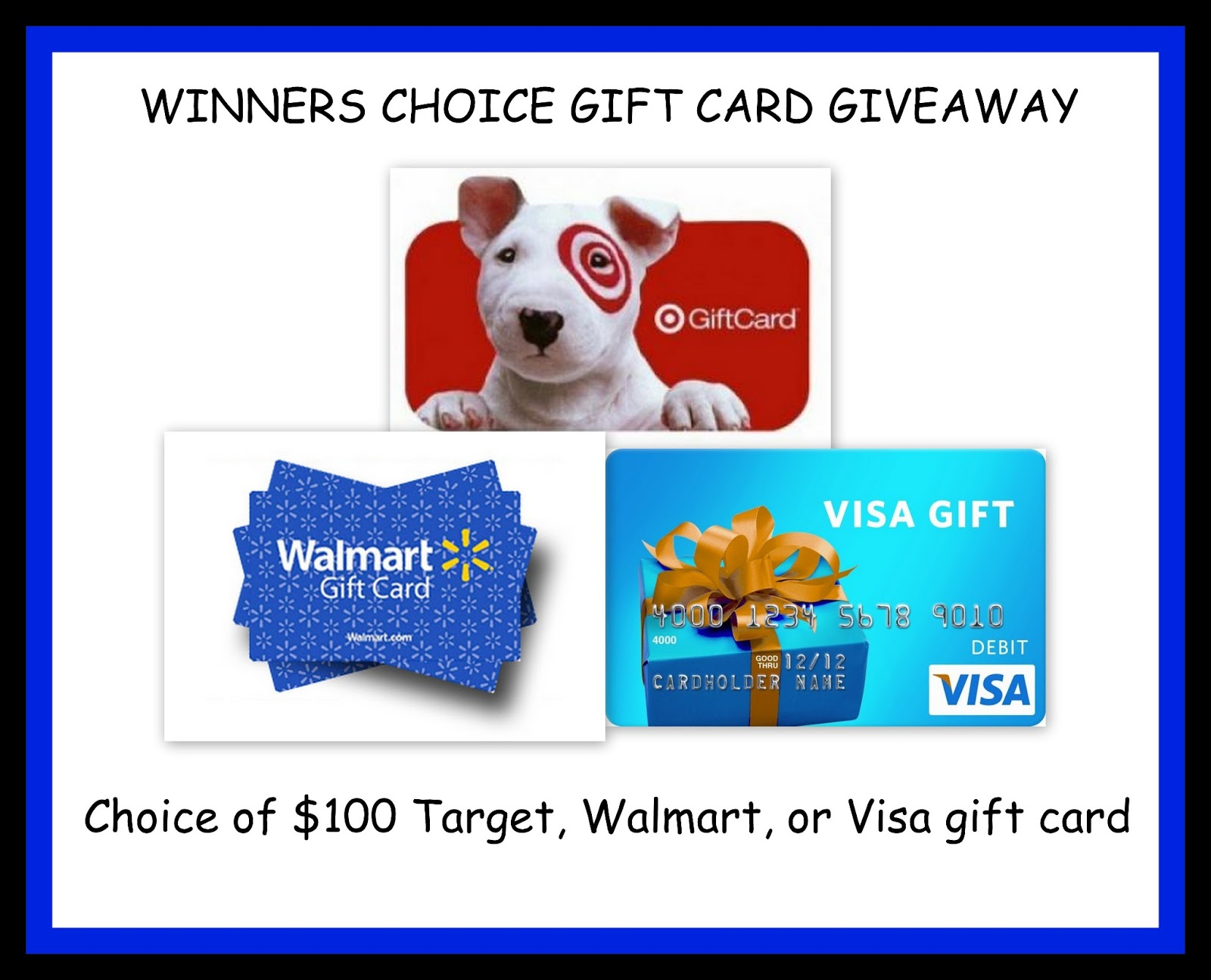Enter to win the Winner's Choice Gift Card Giveaway, {US, 8/22}