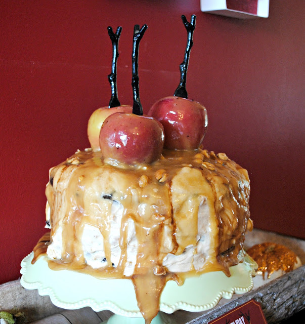 Salted Caramel Apple Snickers Cake made by Fizzy Party