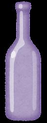 空き瓶のイラスト(紫)