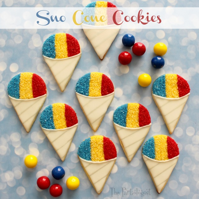 The Partiologist Sno Cone Cookies