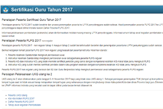 Jadwal Pelaksanaan UKG Ulang ke-2 Tahun 2017