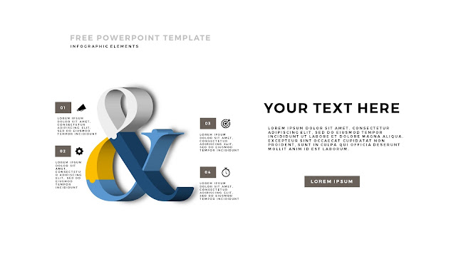Free PowerPoint Template with 3D Puzzle and Sign Infographic Elements Slide 1