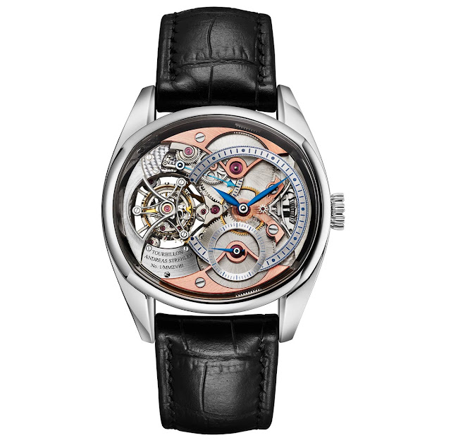 Andreas Strehler Trans-axial Remontoir Tourbillon in platinum