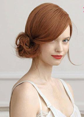 Peinado de novia con cara asimetrica