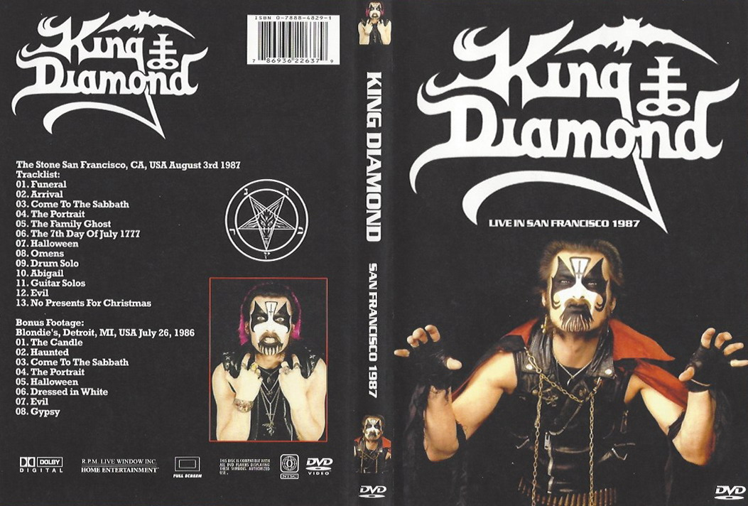 T.U.B.E.: King Diamond - 1987 San Francisco - 1986 Detroit (DVDfull ...
