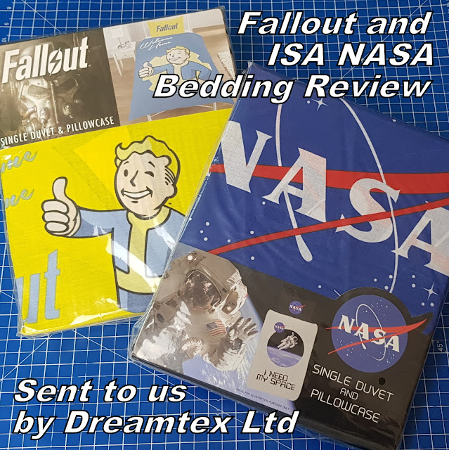 Dreamtex single bedding sets in packaging Fallout ISA NASA