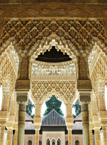 Inside Nasrid Palace near Lions