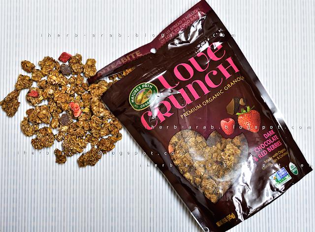 جرانولا العضوية love crunch بالشوكولاته من اي هيرب