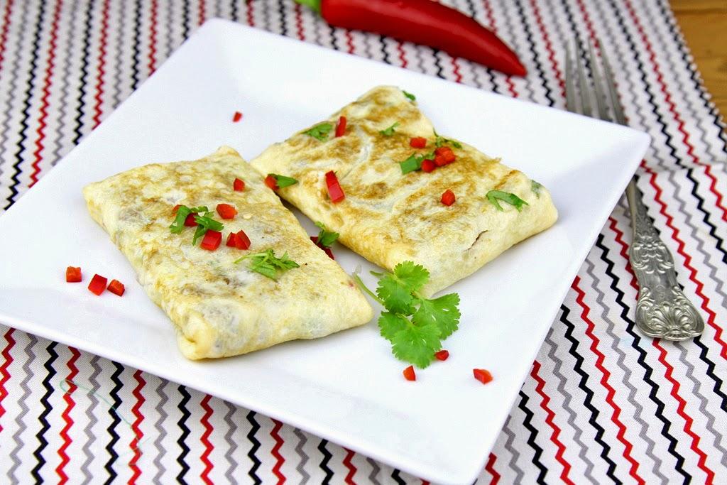 omlet faszerowany mięsem mielonym