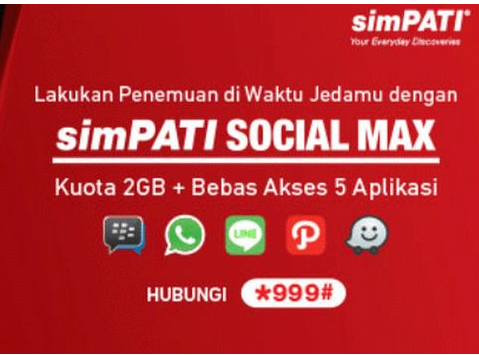kuota chat dan sosial media telkomsel