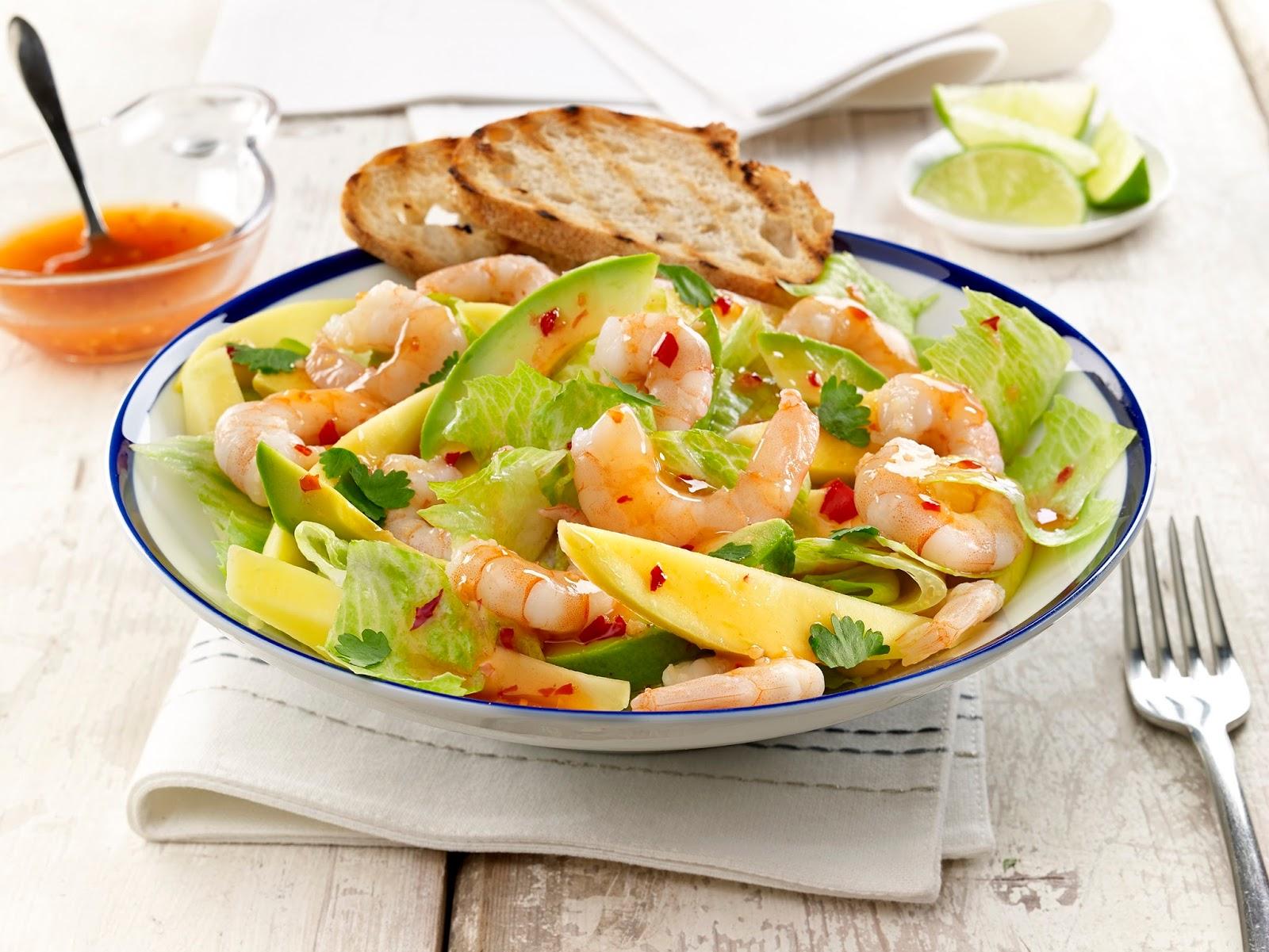Prawn, Avocado And Mango Salad: Summer Salad Recipe