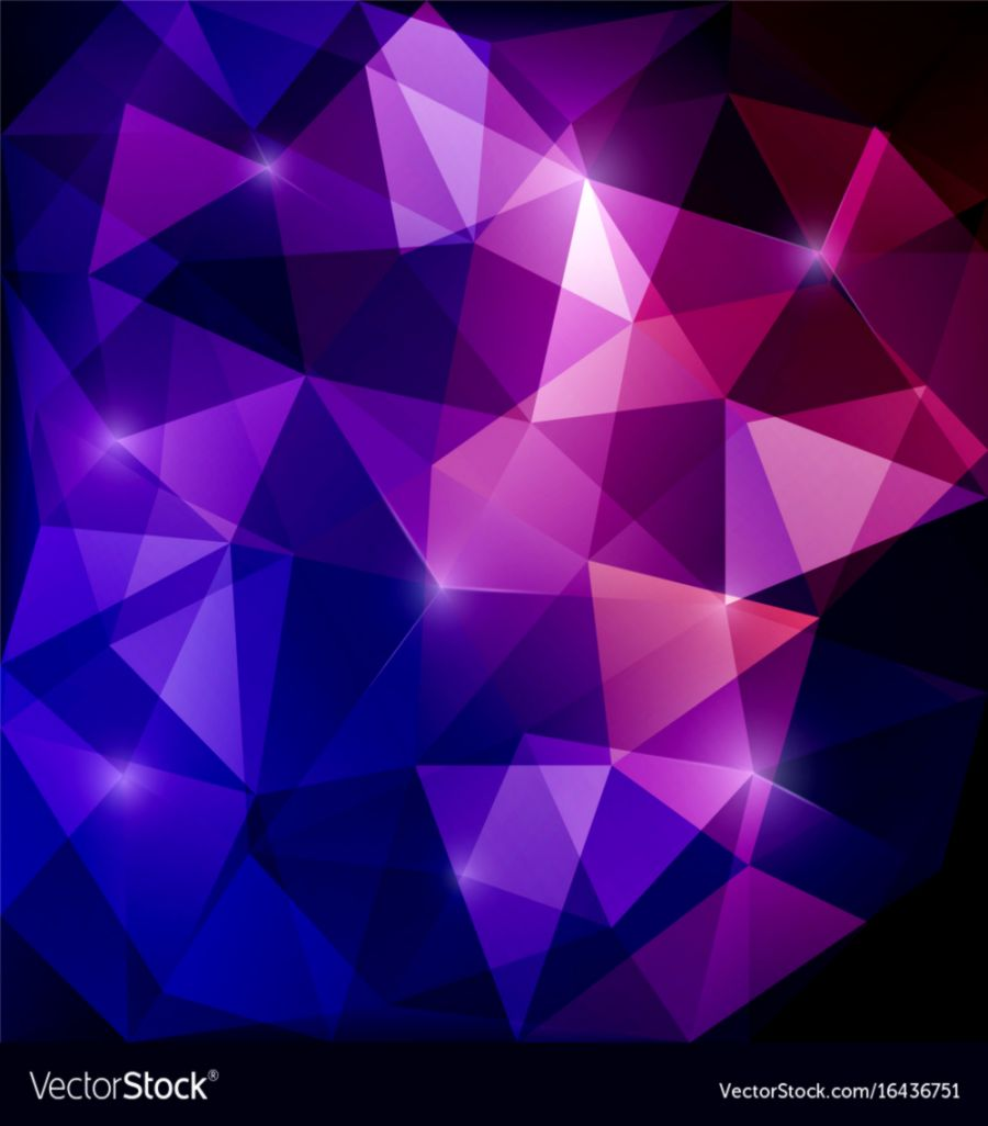 Abstract triangular mosaic purple background Vector Image