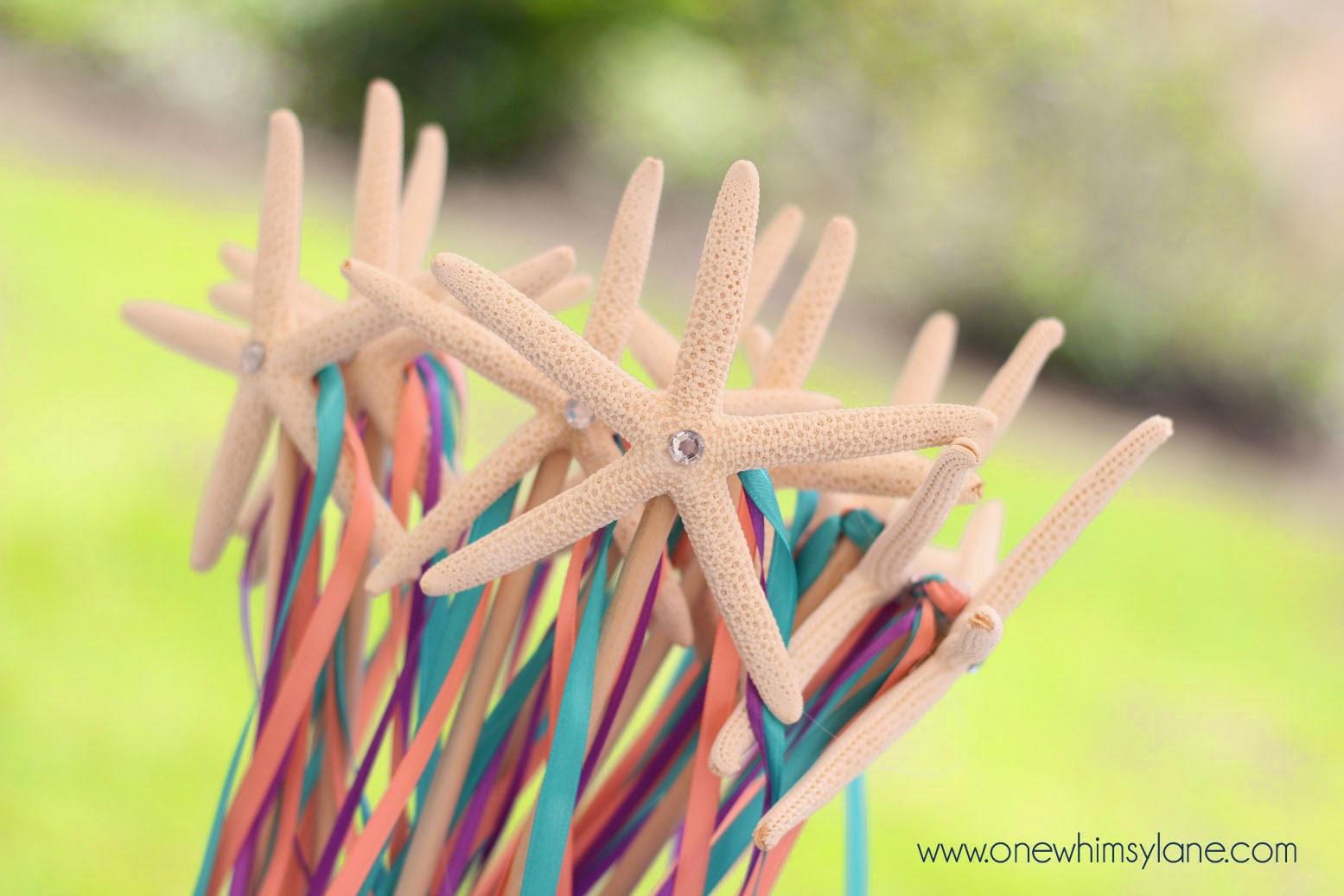 DIY: Mermaid Starfish Wands - One Whimsy Lane