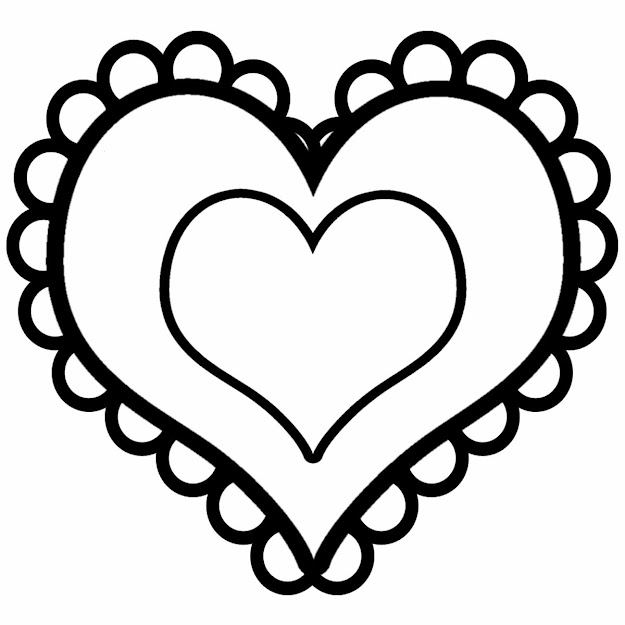 Stunning Design Coloring Page Of Heart Heart Color Pages