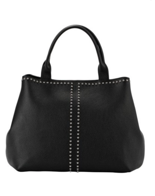 madeleine stud adorned handbag