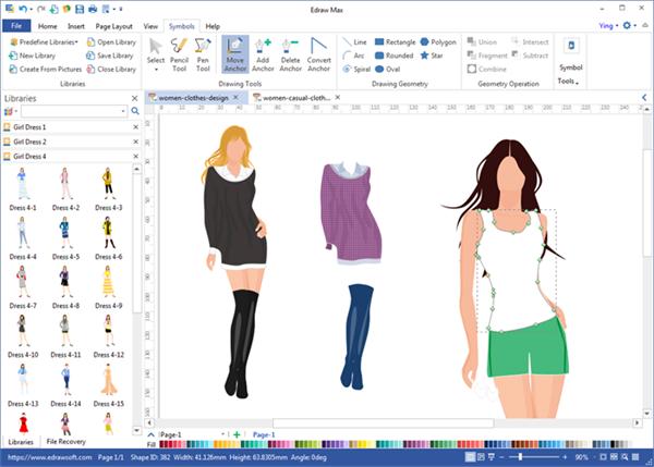 Free download Fashion design flat sketch app download Promo