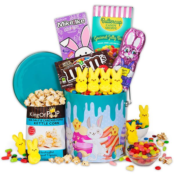 The art of random willy nillyness march 2018 easter popcorn tin instead of easter candy this option is perfect for the popcorn loving gift recipient gourmetgiftbaskets offers nearly 100 negle Choice Image