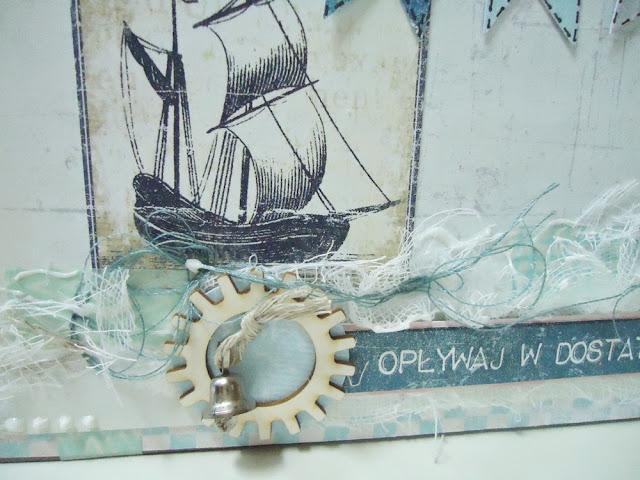 kartka imieninowa w morskimklimacie, opływaj w dostaki
