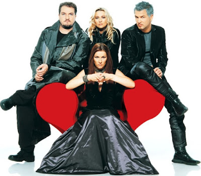 Foto de Ace of Base posando sentados