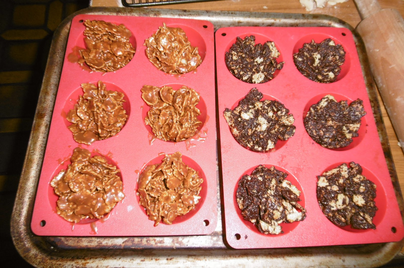 Chocolate Cornflake Cakes With Cocoa Powder Recipe