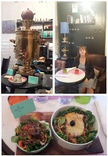 Babouchka Paris samovar lasagnes légumes salade Russie Ukraine restaurant slave