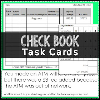 Check Book Task Cards
