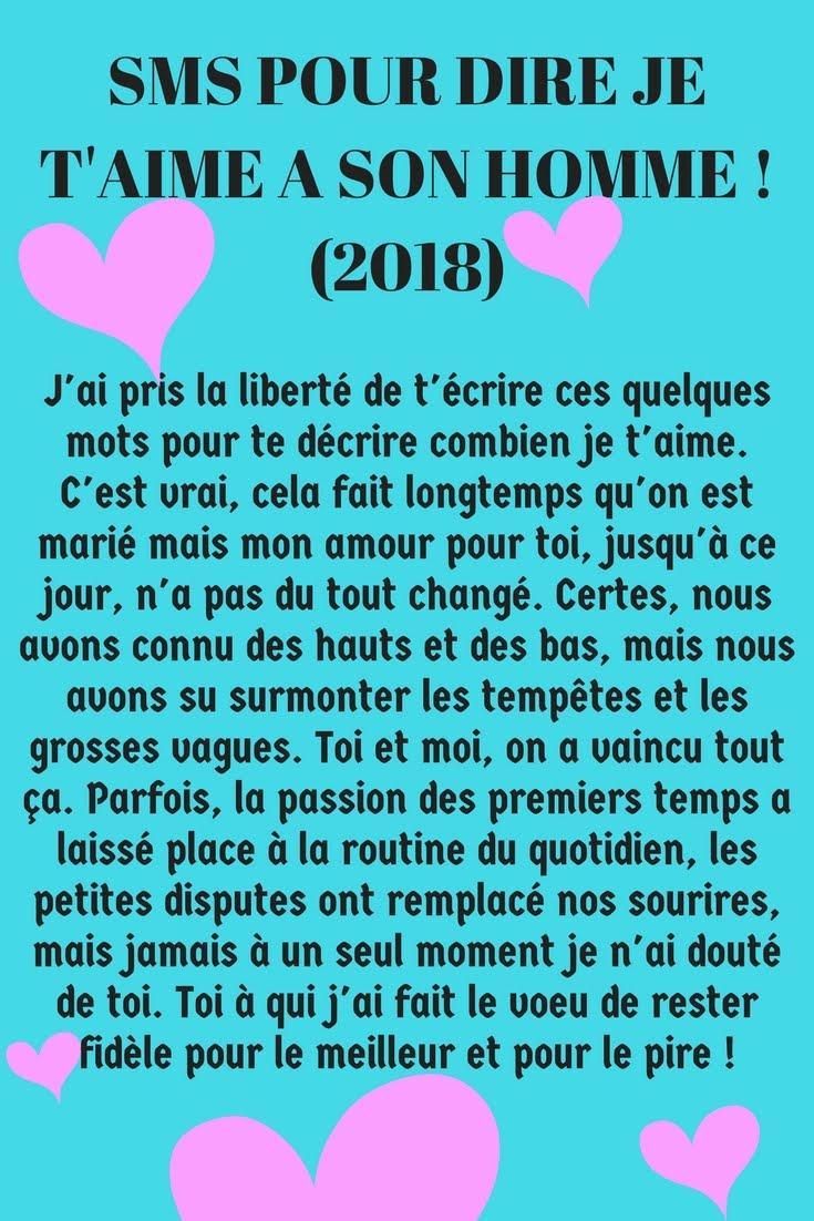 Sms Damour Pour Dire Je Taime à Un Homme 2019 Sms D