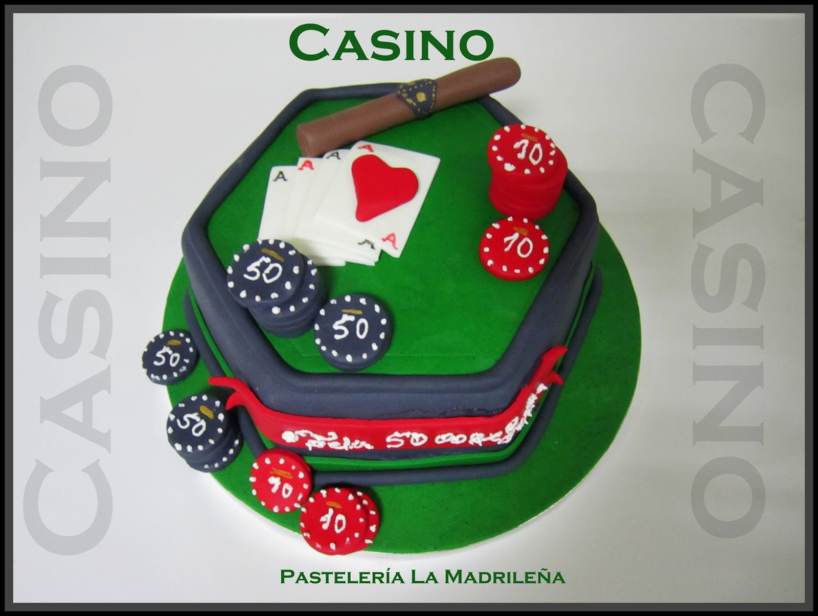 Pasteleria la madrile a tarta de fondant casino for Duo harinero