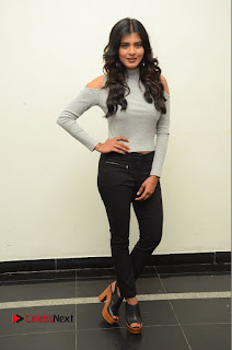 Actress Heba Patel Pictures in Black Jeans at Angel Movie Opening  0087.JPG