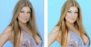 fotos de famosas antes e depois do photoshop