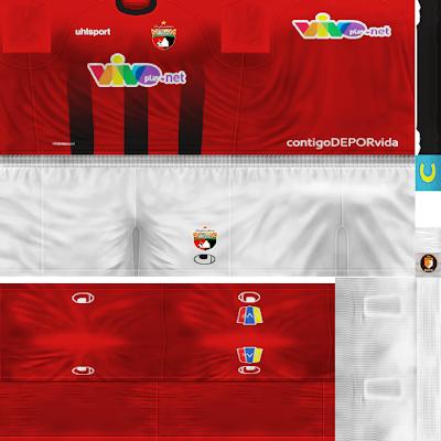 PES 6 Kits AC Deportivo Lara Season 2018/2019 by WindowOp Kitmaker