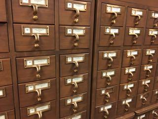 Card catalog at TSLAC