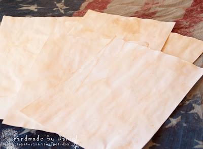 МК винтажная бумага+состарить+блокнот