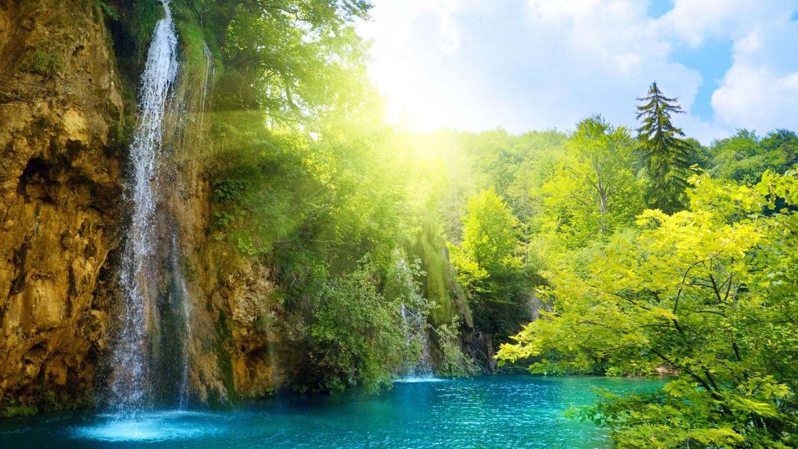 nature hd waterfall wallpaper